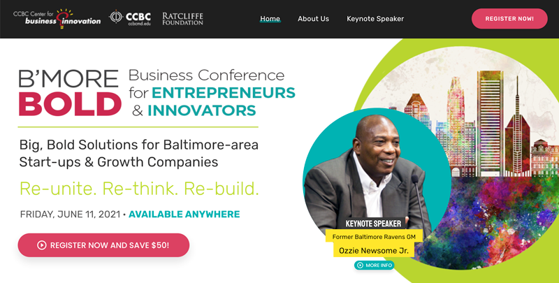 Baltimore County COC - B'more BOLD Conference for Entrepreneurs & Innovators @ Virtual   Towson   Maryland   United States