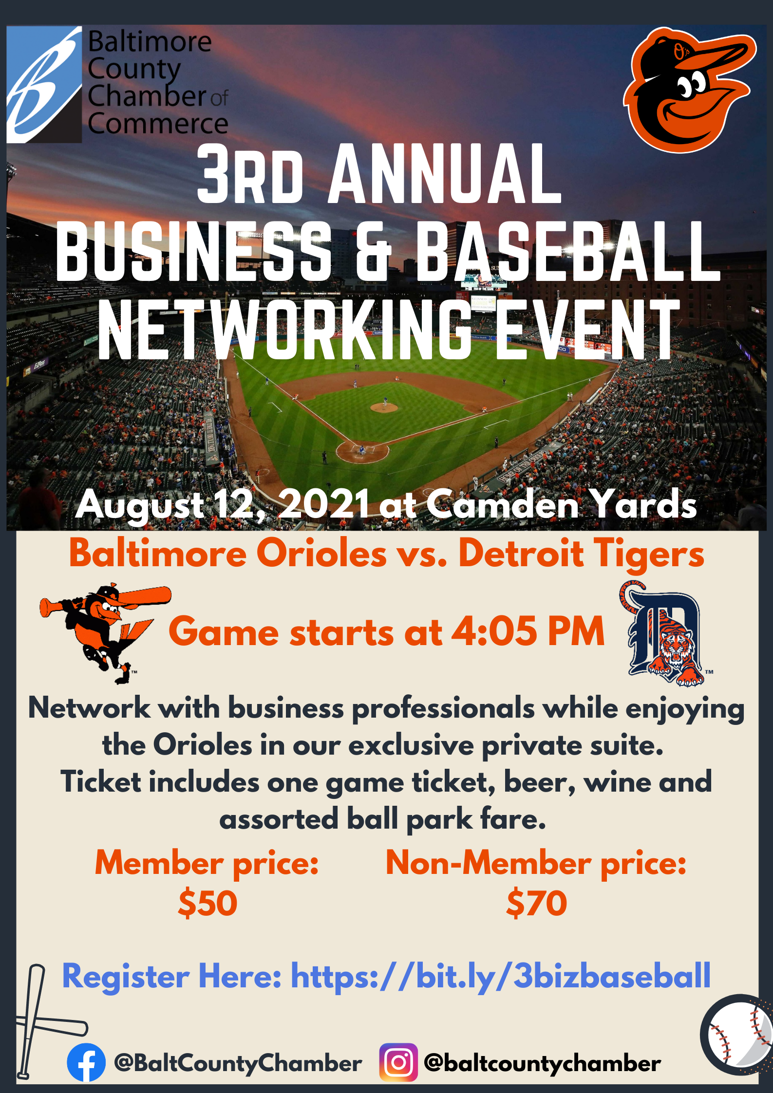 IN PERSON 3rd Annual Business & Baseball Networking Event (Balto Metro) @ Camden Yards | Towson | Maryland | United States